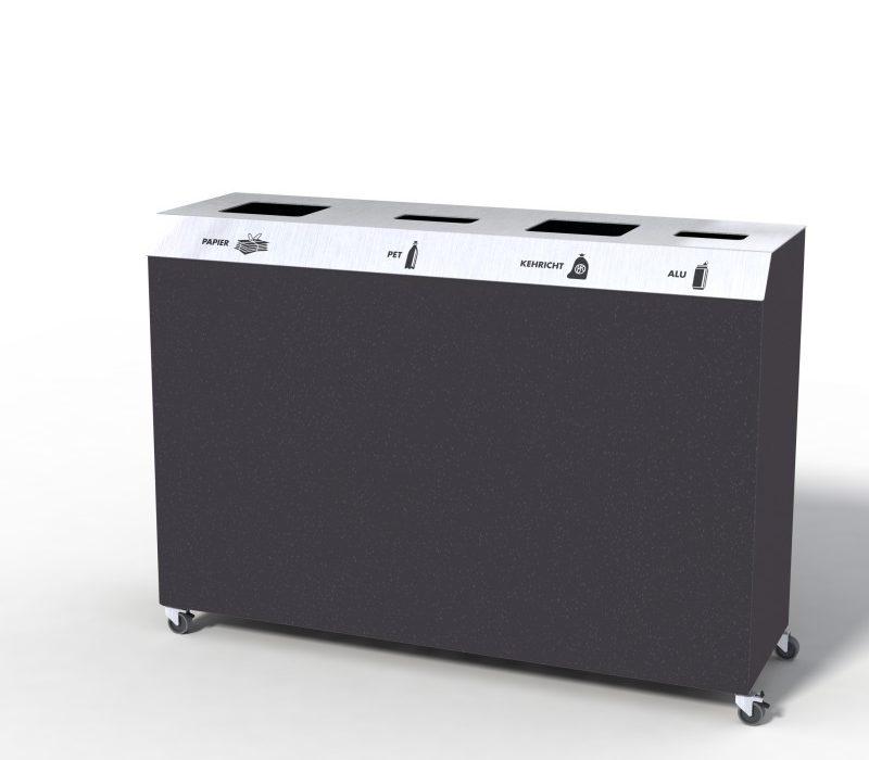 C-Bin Recyclingstation, C4, Abfallmobiliar, Abfallbehälter, Entsorgungssysteme, Public Waste bins, Poubelle Recyclage