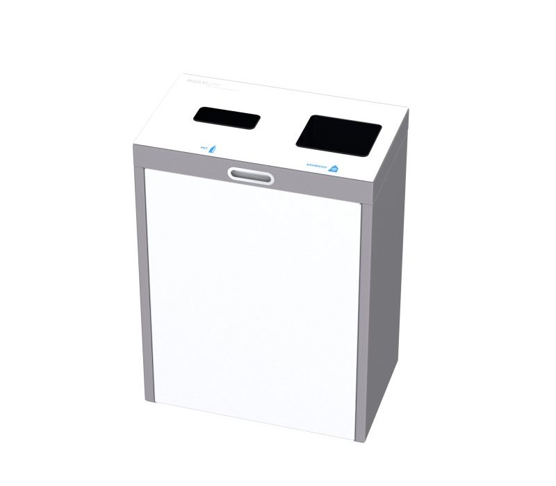 Recyclingstation Multilith 2.0, Wertstofftrenner, PET Recycling, 110 Liter, Entsorgungssystem