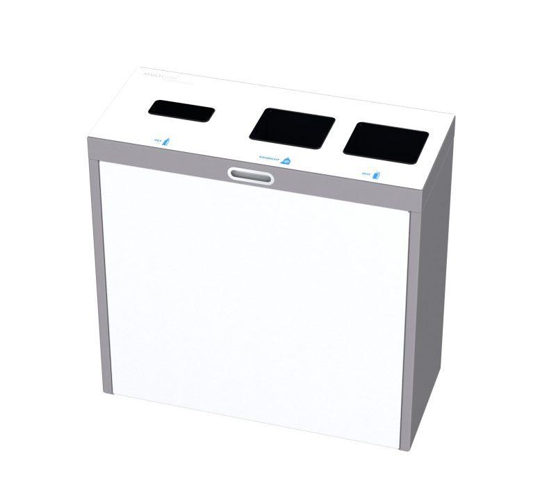 Recyclingstation Multilith 3.0, Wertstofftrenner, PET Recycling, 110 Liter, Entsorgungssystem