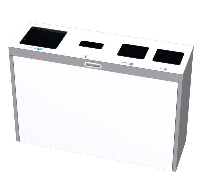Recyclingstation Multilith 4.0, Wertstofftrenner, PET Recycling, 110 Liter, Entsorgungssystem