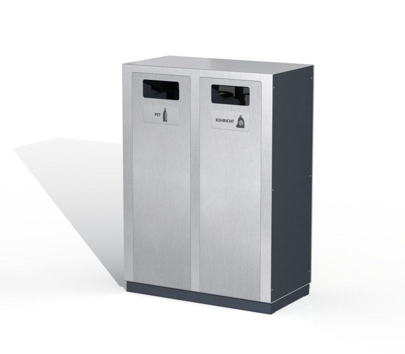 Recyclingstation W2, Entsorgungssystem, Aussen, PET Recycling, Abfall, Abfallbehälter, Public Waste bins, Poubelle Recyclage
