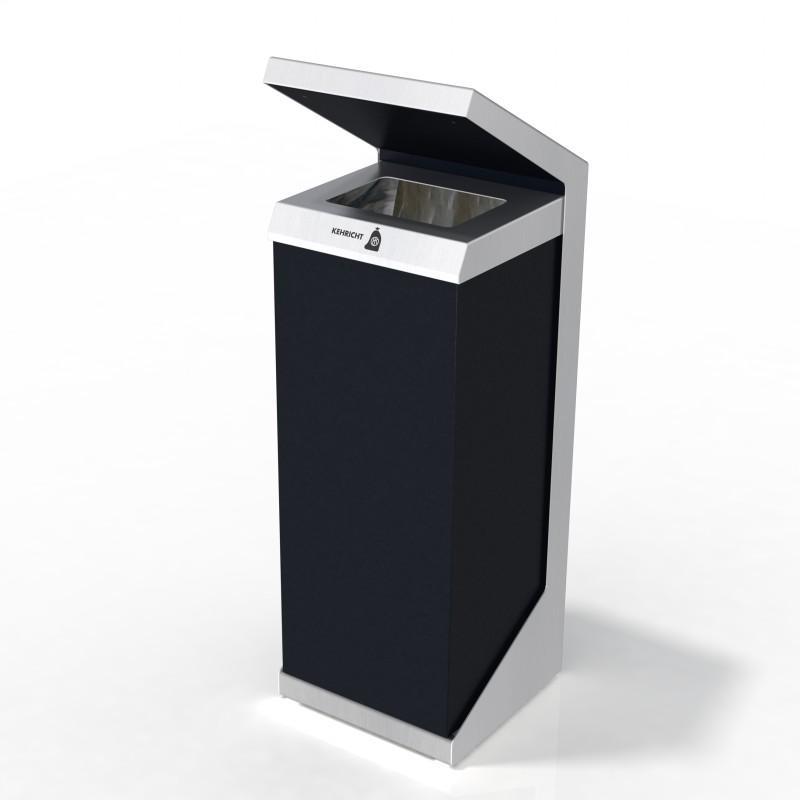 Entsorgungssystem, Abfallmobiliar, Recyclingstation Q-Serie, Recycling Station, Wertstofftrenner, Wertstoffbehälter, PET, 110 Liter, Public Waste Bins, Poubelle Recyclage